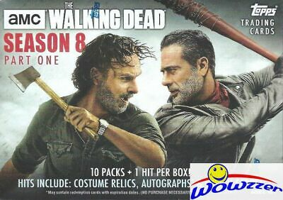2018 Topps AMC The Walking Dead Season 8 HUGE Factory Sealed Blaster Box-HIT