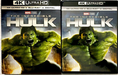 NEW The Incredible Hulk (2008) 4K Ultra HD+Blu-ray Edward Norton RARE Slipcover