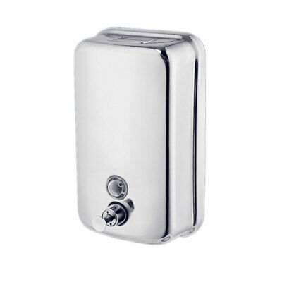 Durable Stainless Steel Manual Wall-Mount liquid Soap Dispenser Pump Hand Silver