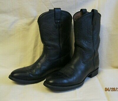 91018a7ddace6 ARIAT HERITAGE ROPER Boots Womens 7B Black Leather Cowboy Western ...