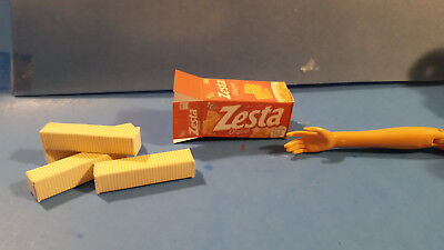 Barbie 1:6 Miniature Kitchen Food Package Of Cheez It Duoz Crackers