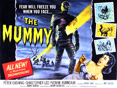 16mm Feature Film: THE MUMMY (1959) Christopher Lee - HAMMER HORROR - Mylar