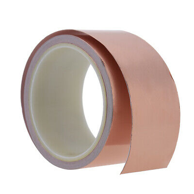 50mm*10m Foil Tape EMI Shielding Single Conductive Adhesive for Guitar New A4X1