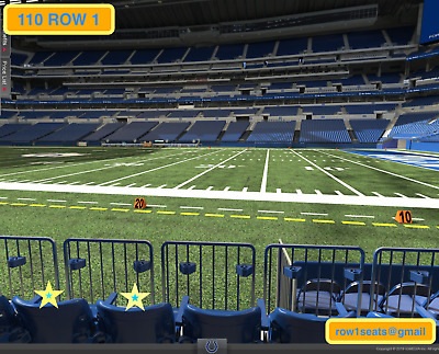f064646d 2 FRONT ROW Cleveland Browns at Indianapolis Colts preseason tickets ...
