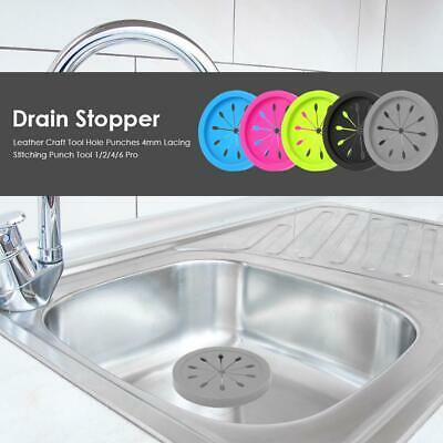 Circle Silicone Sink Strainer Filter Water Stopper Floor Drain Hair Catcher Kit