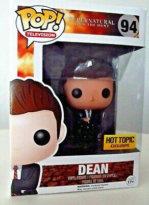 "HOT TOPIC EXCLUSIVE POP! Television  ""DEAN""  # 94 FBI SUPERNATURAL JOIN THE HUNT"