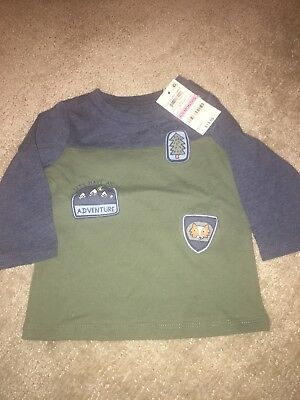 NWT First Impressions Ling Sleeve Tee 6-9 Months