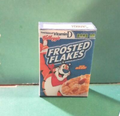 Barbie Doll 1:6 Kitchen Food Miniature Handmade Box of Cereal  b NOT REAL FOOD