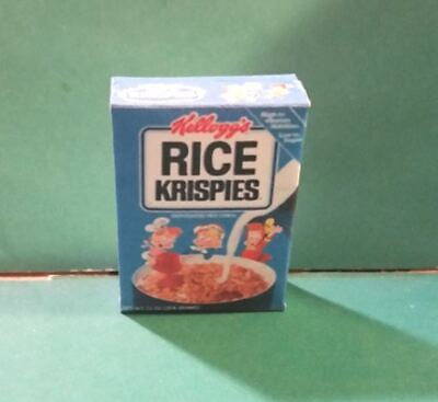 Barbie Doll 1:6 Kitchen Food Miniature Handmade Box of Cereal  d NOT REAL FOOD