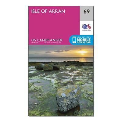 New Ordnance Survey Landranger 69 Isle of Arran Map