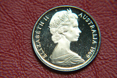 1969 Australia Proof 5 Cent Coin ............... With Faults.