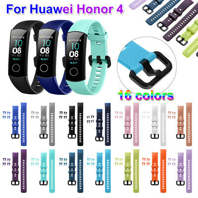 Soft Silicone Watch Band Wristband Bracelet Strap For Huawei Honor Band 4~