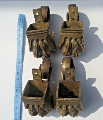 Antique Vintage 4 Brass Furniture Lion Eagle Claw Casters Ironmongery  Lot4