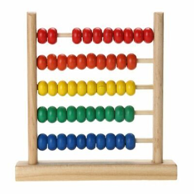 Wooden Abacus Math Learning Toy Number Counting Calculating Bead Educational Toy