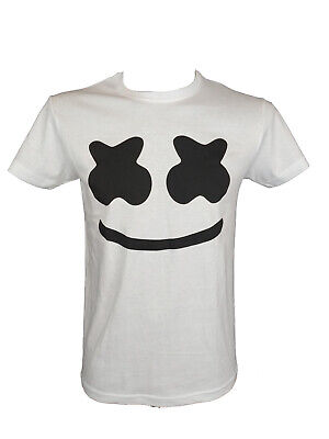 T-shirt maglietta Marshmello face Dj music battle game adulto/bambino battaglia
