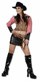 Adult Ladies Rodeo Girl Fancy Dress Wild Western Cowgirl Costume, World Book Day