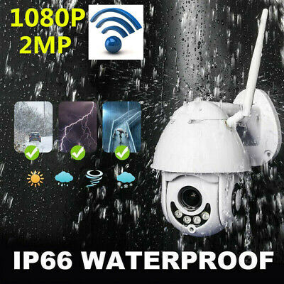 UK Plug 1080P WIFI IP Camera Wireless Outdoor CCTV HD Home Security IR Cam WHITE