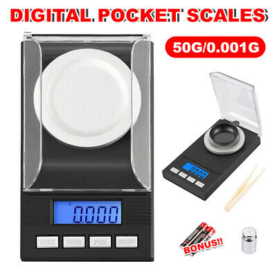 High Precision Digital Scales Pocket Jewellery Electronic Milligram 0.001g50g BZ