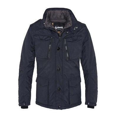 Mens Schott NYC Navy FIELD Vintage Mid Length Jacket