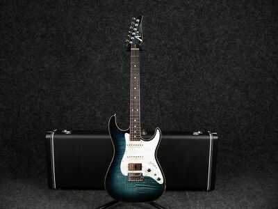 Tom Anderson Hollow Drop Top Classic - Arctic Blue Burst w/Hard Case - 2nd Hand