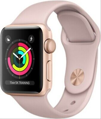 Apple Watch Series 3 38 mm Aluminiumgehäuse gold am Sportarmband sandrosa [Wi-Fi
