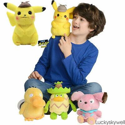 """2019 Pokemon Detective Pikachu Plush Doll Stuffed Toy Movie Official Gift 8-11"""""""