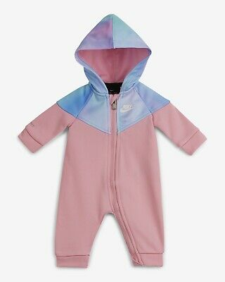 BABY GIRLS: Nike Therma 1-Piece Coverall, Pink - 9 Months 06E351-A8F