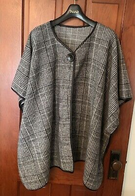 Scarf Poncho Shawl Wrap Tartan Ruana Pashmina Spring Summer Solid LGry Cover