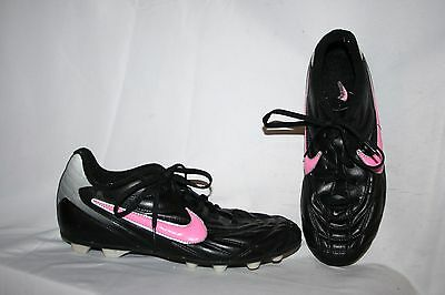 Adidas Cleats Size 6 Y Girls Black Pink White Soccer Baseball Sports Shoes
