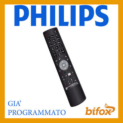 Telecomando Tv Universale Philips Compatibile Programmato Pronto Smart Lcd Led