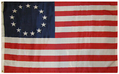 3x5 Betsy Ross Historical 3'x5' Premium Quality 100D Polyester Flag (RUF)