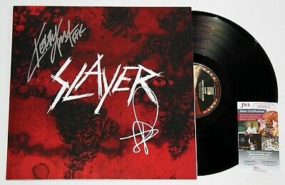 Slayer Signed World Painted Blood Lp Vinyl Record Kerry King Tom Araya +Jsa Coa