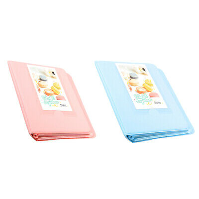 Blue+ Pink 64 Pockets Photo Album for FujiFilm Instax Polaroid Fuji Film