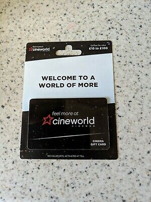 Cineworld Cinema Gift Card £25.00
