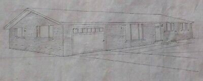 G 1960's House Home Rendering Mid Century MCM