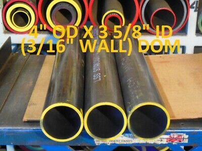 "E0348  Dom Round Steel Tube  4.000 Od  X   3.625 Id  (.187 Wall)   21""  Long"