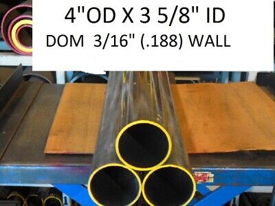 "E0349  Dom Round Steel Tube  4.000 Od  X   3.625 Id  (.187 Wall)   28""  Long"