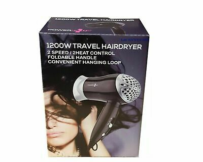 Travel Hair Dryer Professional Style 1200W Nozzle Salon Styler Foldable Holiday