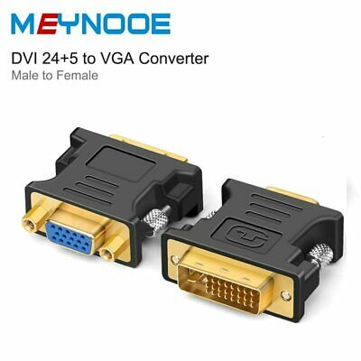 Dual Link DVI-I 24+5 DVI Male To VGA SVGA Female Adapter Converter Monitor