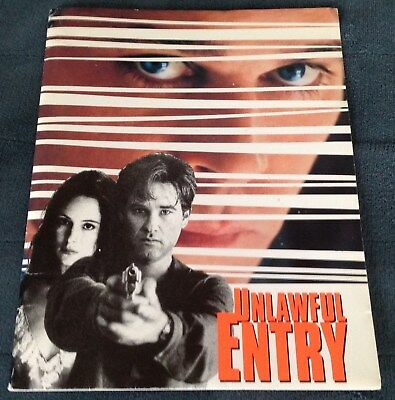 KURT RUSSELL Press Kit UNLAWFUL ENTRY Madeleine Stowe, Ray Loitta