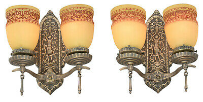 Edwardian Pair of LOVELY Double Arm Sconces ANT-1091
