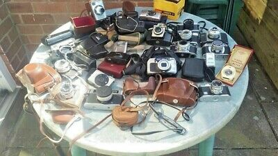 Huge Vintage Camera Job Lot - Canon/ Pentax / Olympus / Zeiss / Kodak etc