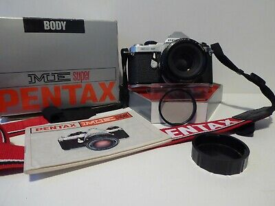 Pentax ME Super 35mm SLR Film Camera with 50mm Lens INSTRUCTIONS AND NECK STRAP