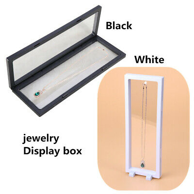 Magic 3D Floating Frame Holder Stand Box Clear Jewelry Ring Coin Display Case