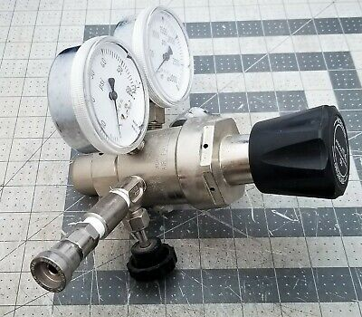 Air Gas TWO STAGE General Purpose Gas Regulator PRISTINE WORKING PULL [A7B2#17