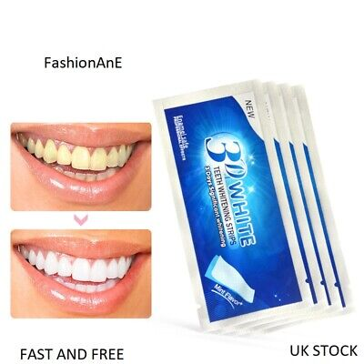 14PCS 7 POUCHES x 3D WHITE ADVANCED TEETH WHITENING STRIPS PRO TOOTH BLEACHING