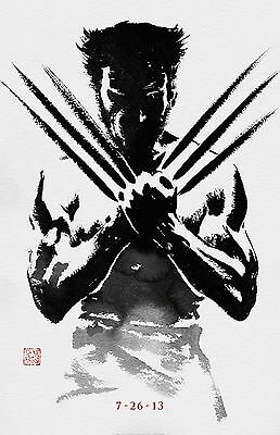 "Wolverine movie poster (b) : 11"" x 17"" : Hugh Jackman, Wolverine poster, X-Men"