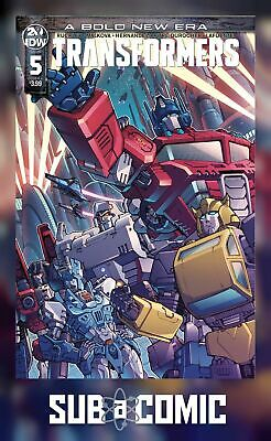 TRANSFORMERS #5 COVER A GRIFFITH (IDW 2019 1st Print) COMIC