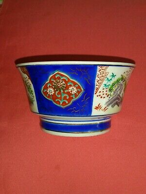 Antique Japanese Imari Porcelain Bowl with gold gilt.