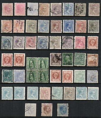 SPANISH CARIBBEAN Group of 51 All Good looking Collectable Stamps Mint /  V.F.U.